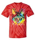 all things cat tie dye t shirt