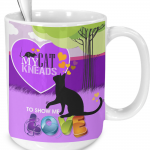 Purple Cat Mug Gifts for Cat Lovers to Enjoy